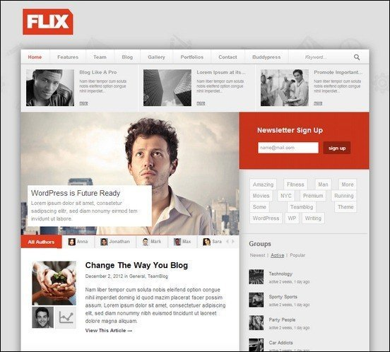 flix-buddypress-ready-team-blogging