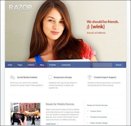 razor-cutting-edge-wordpress-theme
