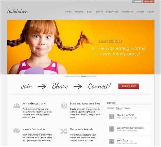 salutation-wordpress-buddypress-theme