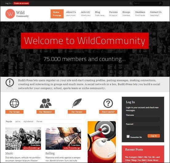 wildcommunity-buddypress-theme