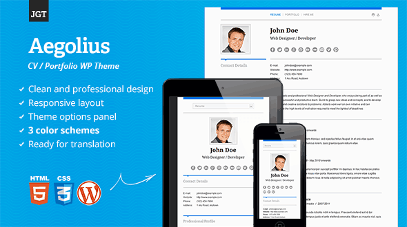 Resume-WordPress-Theme