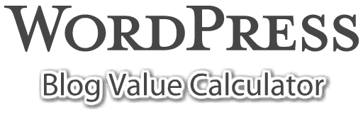 wordpress-blog-value-calculator