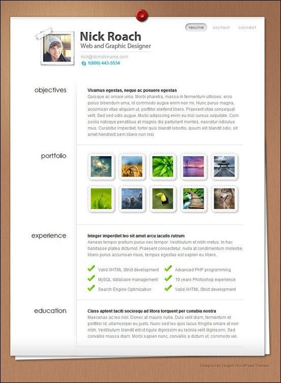 Singel-page-wordpress-theme