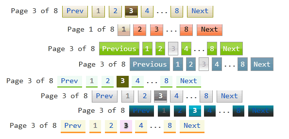 numbered page navigation