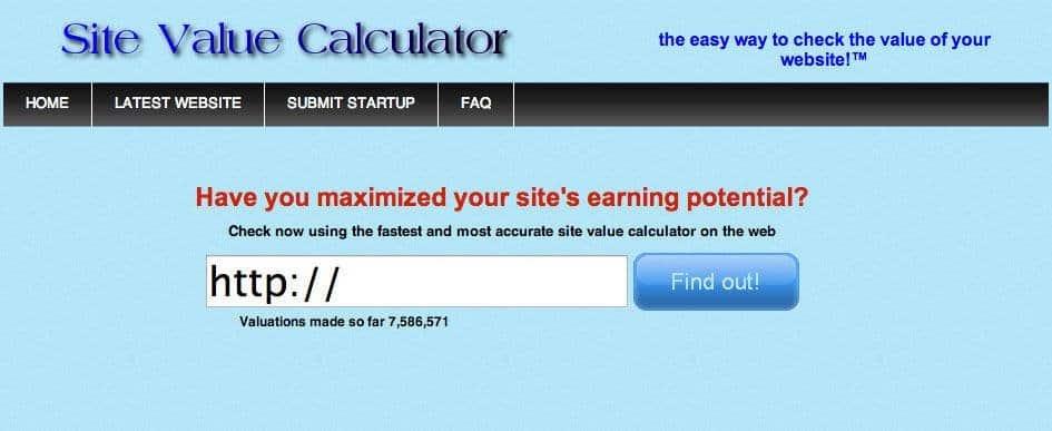 sitevaluecalculatpor