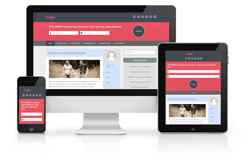 Responsive-Color-child-theme