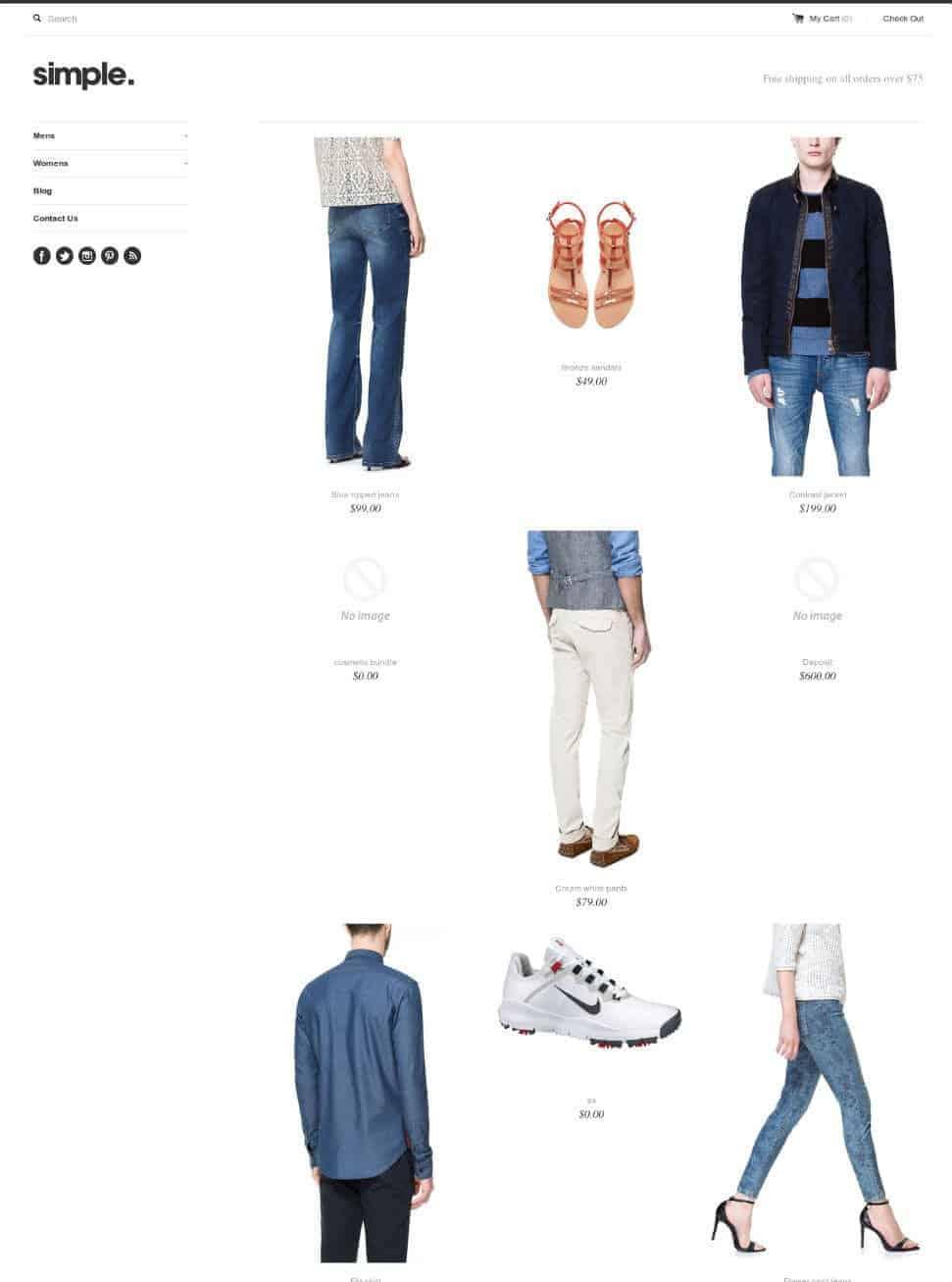 Simple-ecommerce-theme