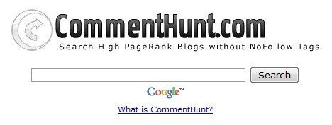 commenthunt-search-high-pagerank-nofollow-blogs