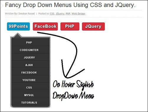 Fancy-Drop-Down-Menus-Using-CSS