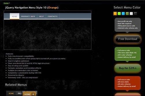 jQuery-Menu-Navigation-Style-Orange