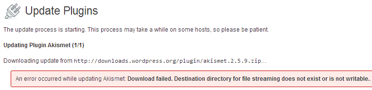 wordpress-update-plugin-failed