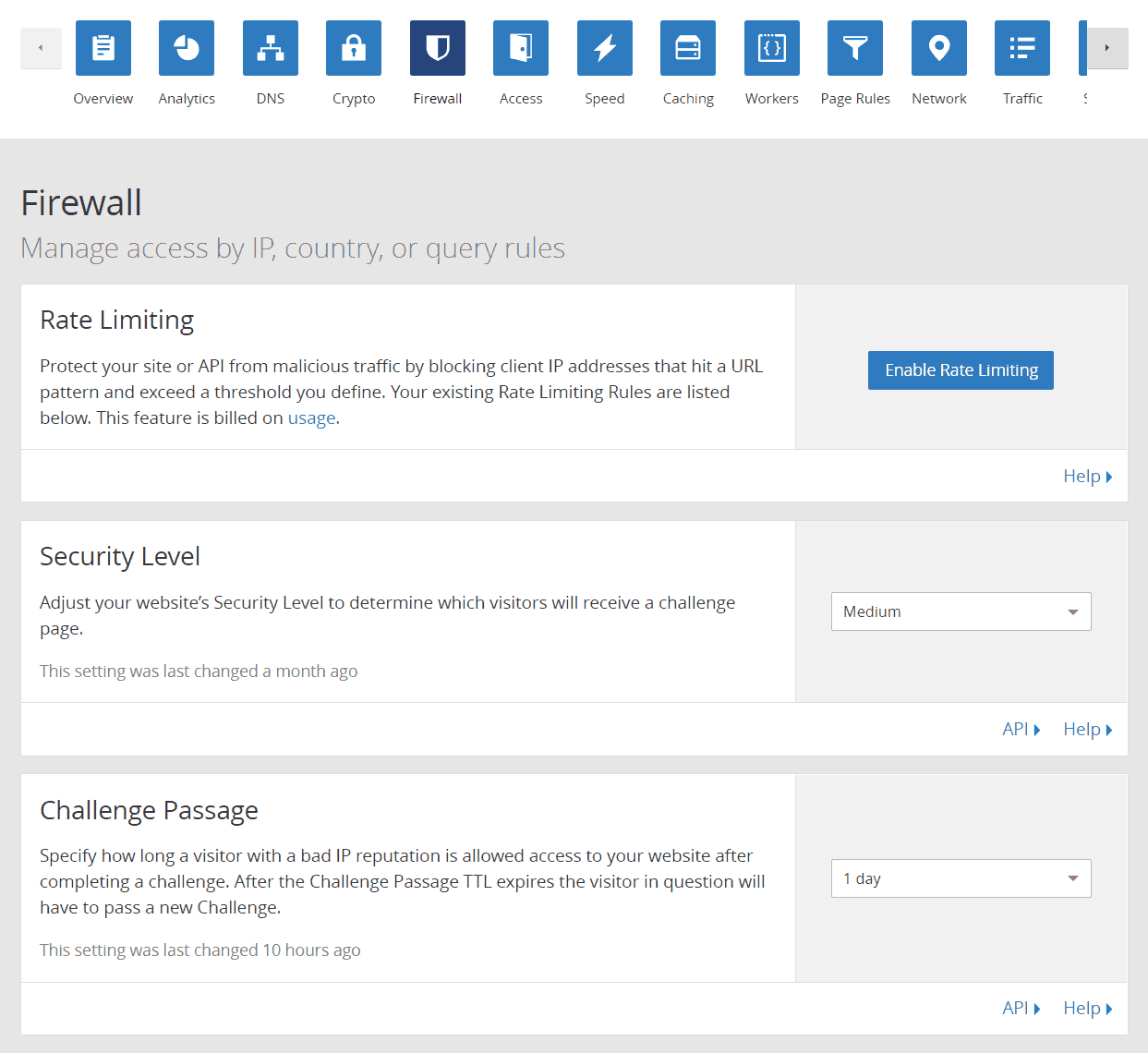 cloudflare-firewall-settings