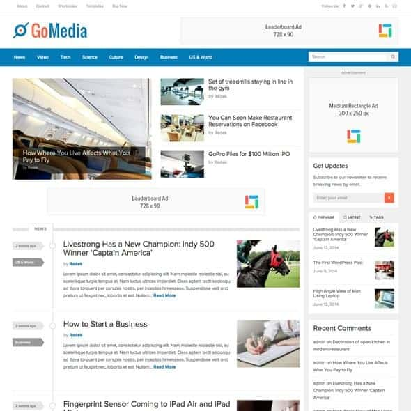 gomedia-techcrunch-theme