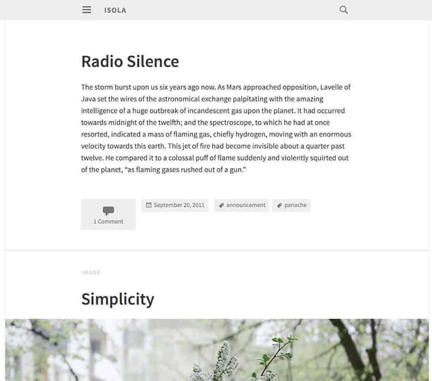 Isola-WP-theme