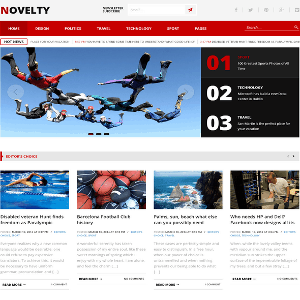 Novelty-WordPress-theme