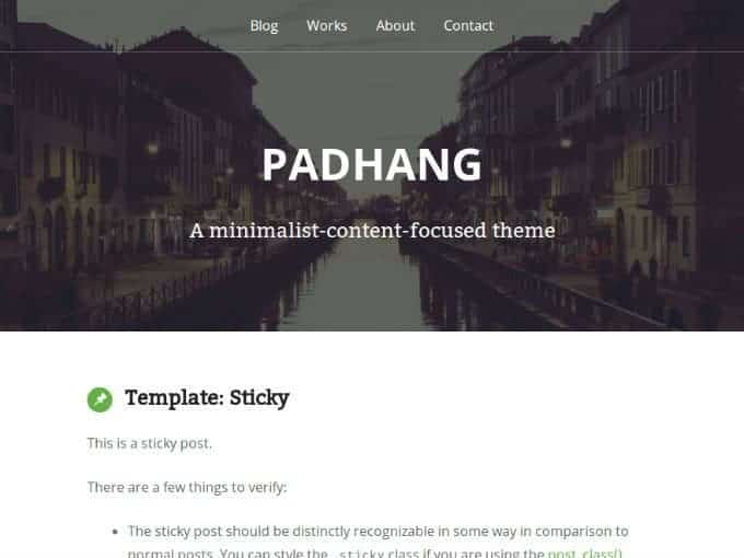 Padhang-WP-Theme
