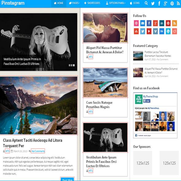 Pinstagram-mashable-like-theme