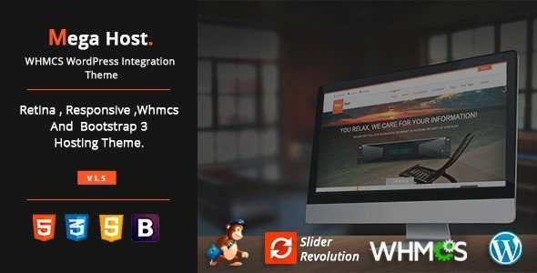 MegaHost-WHMCS-WordPress-Integration-Theme