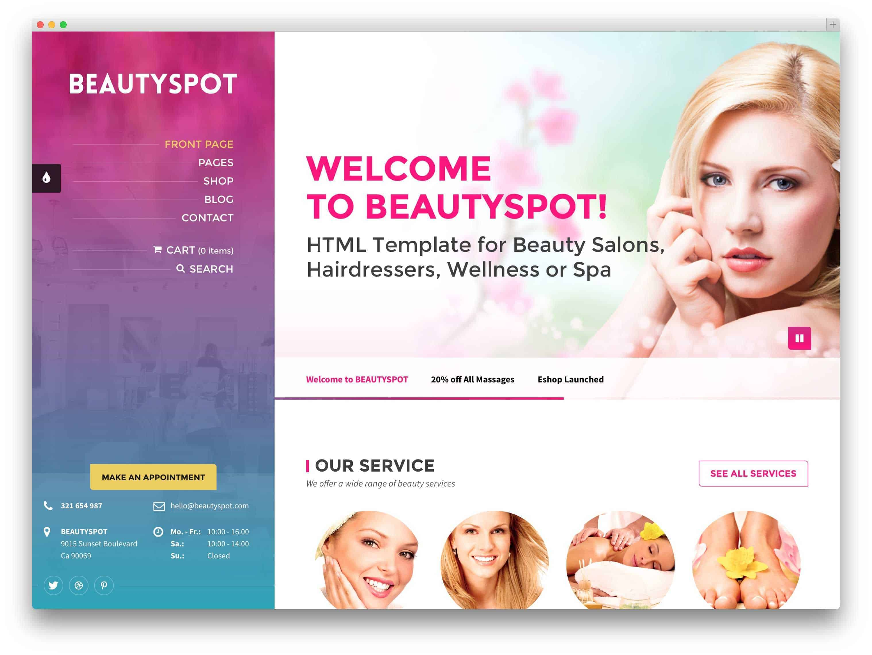 BeautySpot-salon-theme