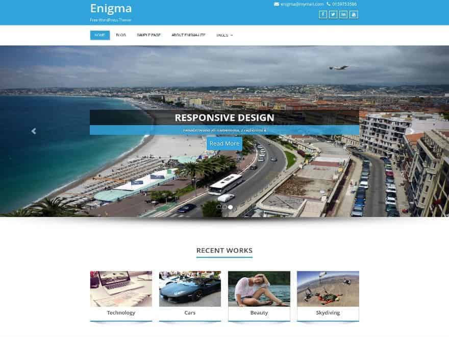 Enigma-WP-Theme