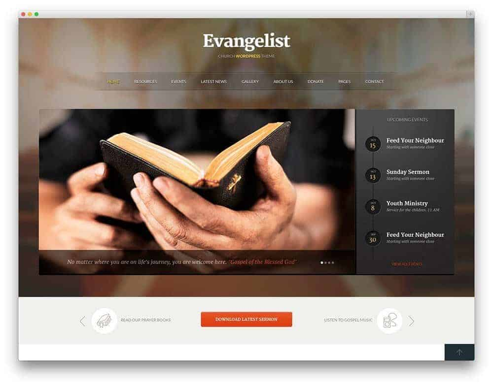 Evangelist-theme
