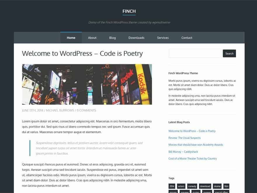 Finch-WP-Theme