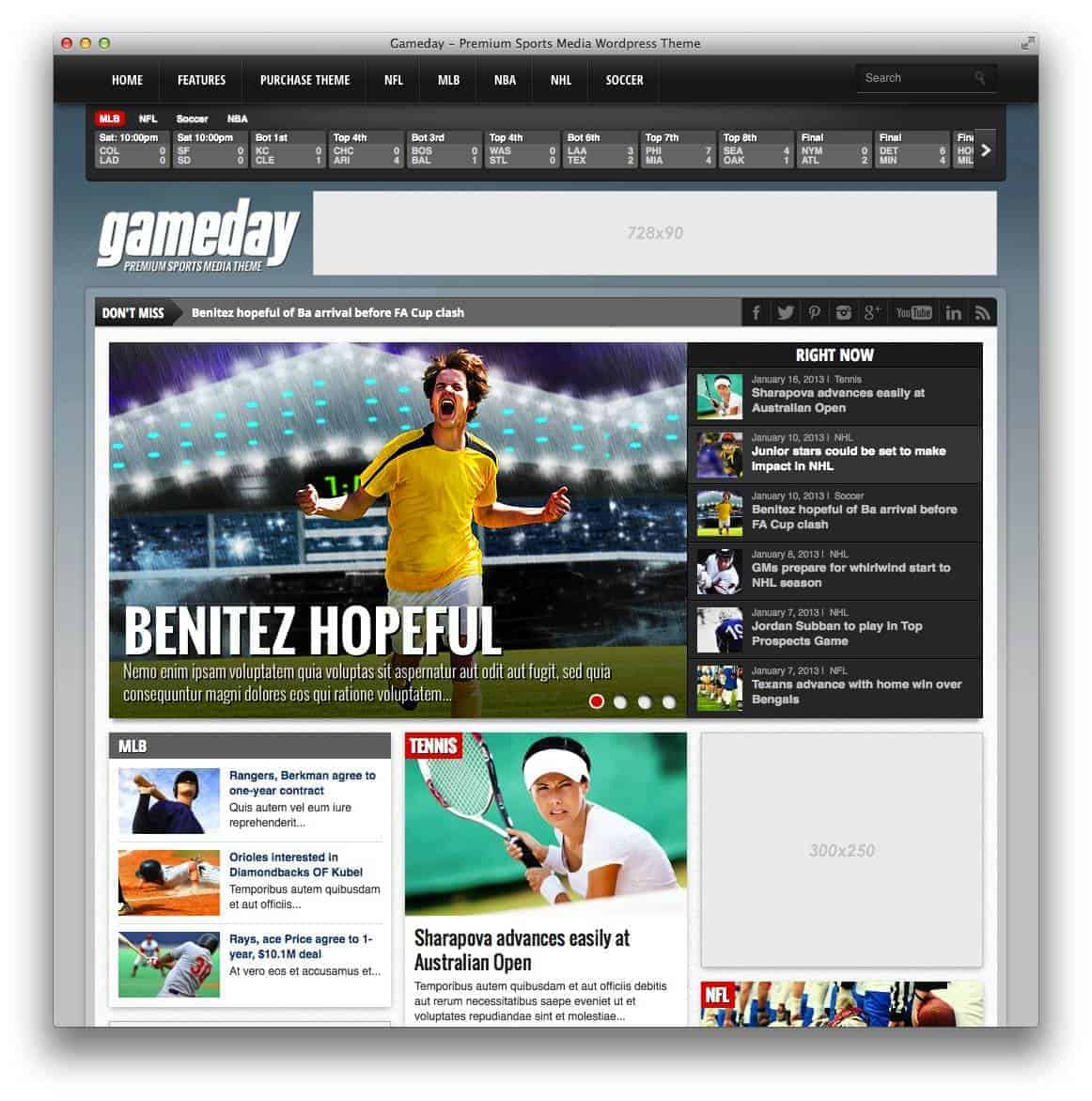 gameday-wordpress-sports-theme