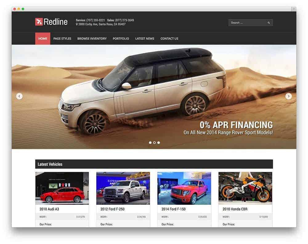 redline-car-dealer-theme