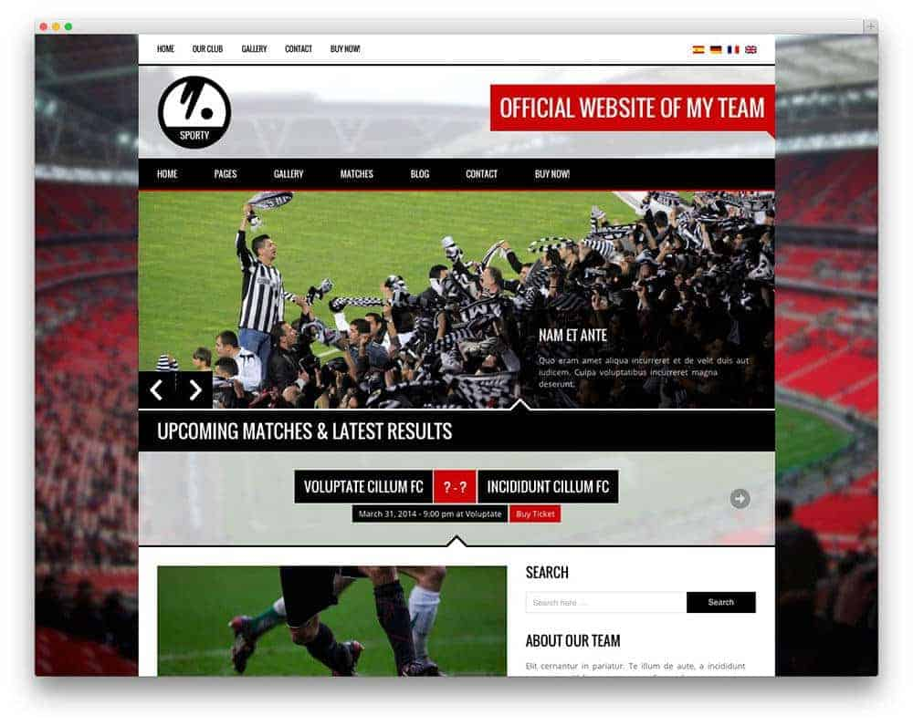 Sporty-football-wp-theme