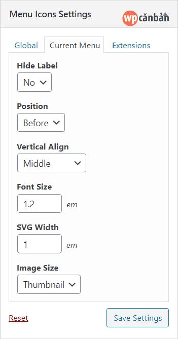thiet-lap-current-menu-trong-menu-icons-settings