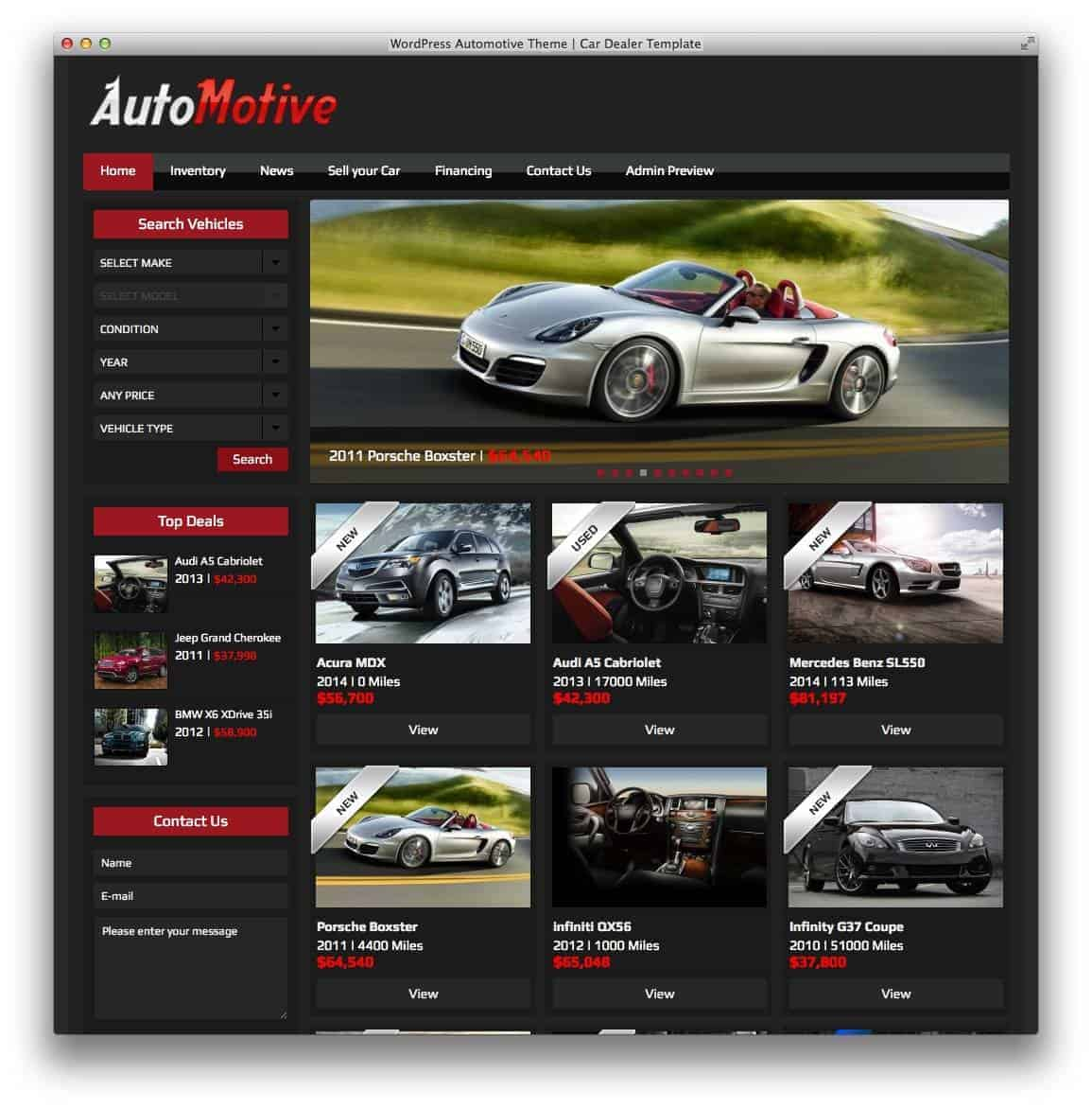 wordpress-automotive-theme