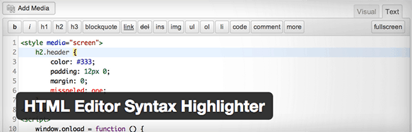 wordpress-editor-plugins-html-syntax-highlighter