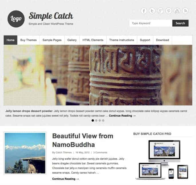 Simple-Catch-WP-Theme