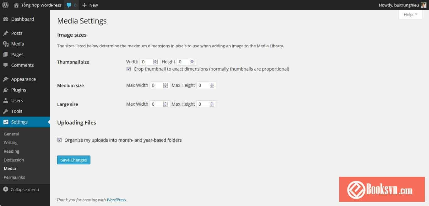 wordpress-media-settings