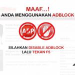 Phát hiện và cảnh báo trình duyệt web sử dụng AdBlock