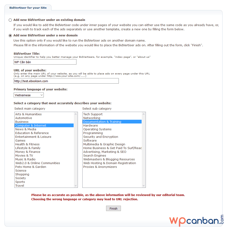 khai-bao-thong-tin-trang-web-moi-trong-bidvertiser