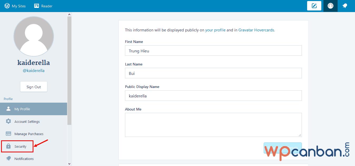 click-vao-muc-security-trong-tai-khoan-wordpress-com