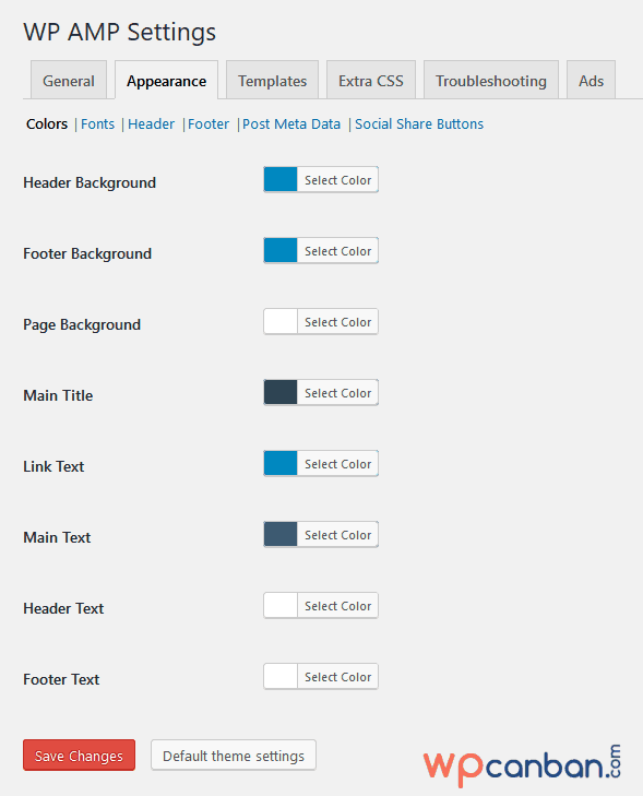 thiet-lap-tab-appearance-colors-cua-plugin-wp-amp