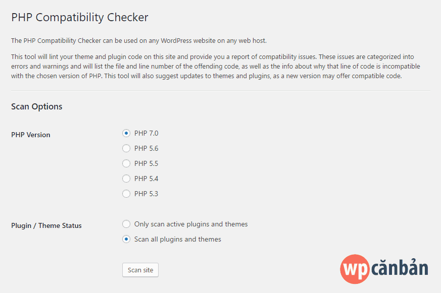 thiet-lap-php-compatibility-checker