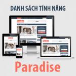 Các tính năng của theme Paradise được tích hợp trong Customizer