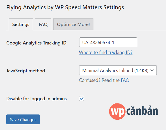 thiet-lap-plugin-flying-analytics-by-wp-speed-matters