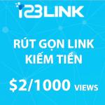 Hướng dẫn rút gọn link kiếm tiền với 123Link.top
