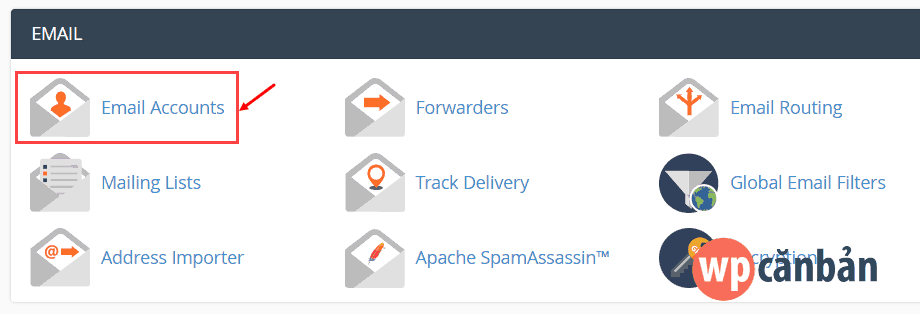 click-vao-muc-email-accounts-trong-cpanel