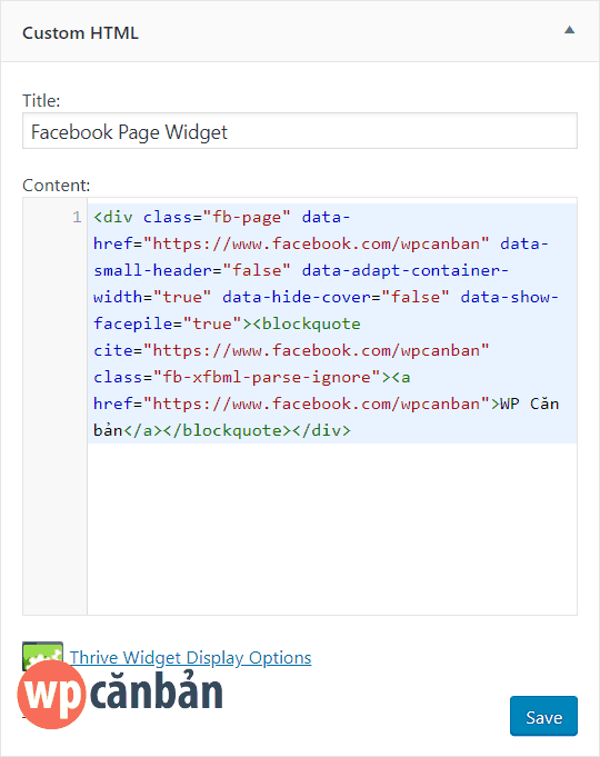chen-facebook-page-bang-custom-html-widget