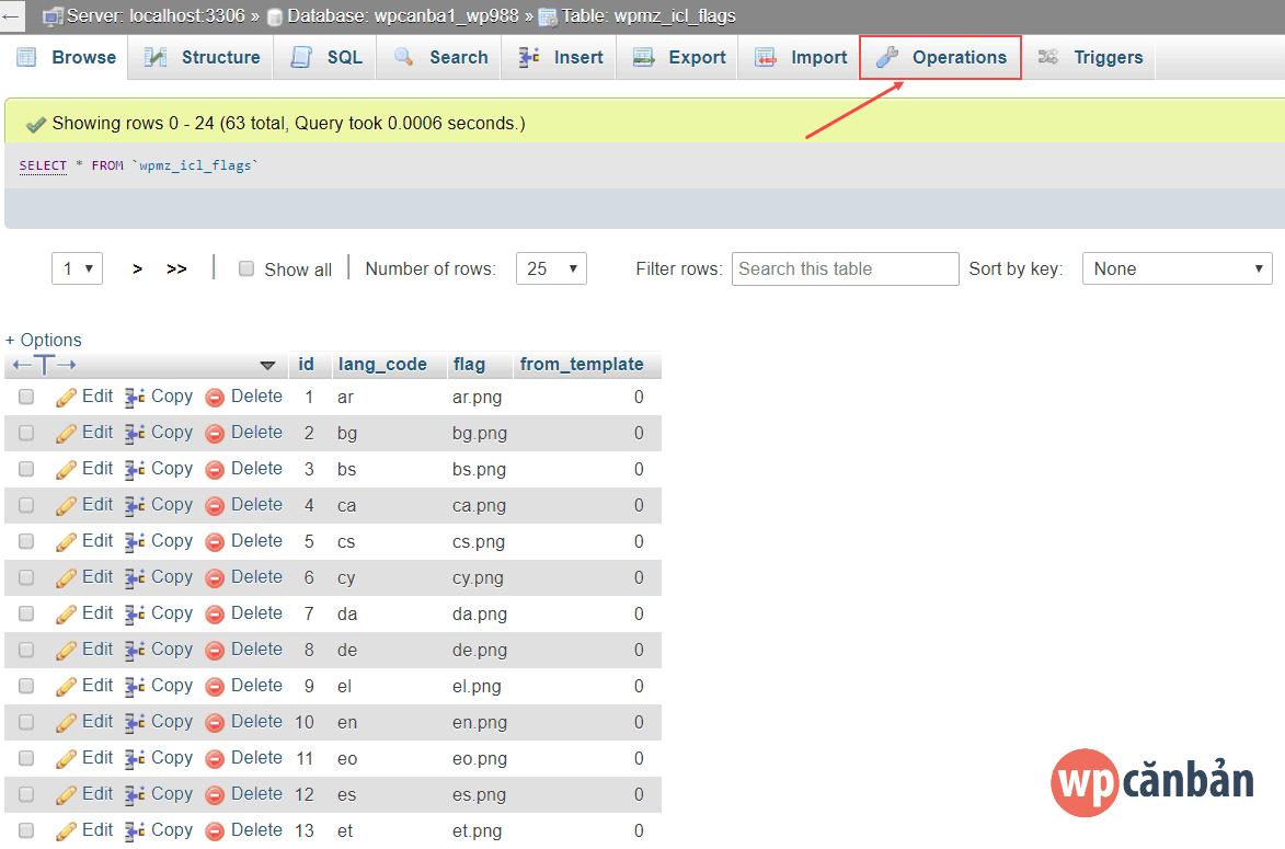 click-vao-tab-operations-trong-phpmyadmin