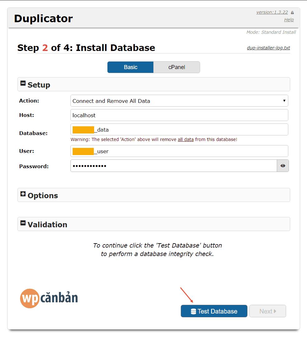 step-2-install-database