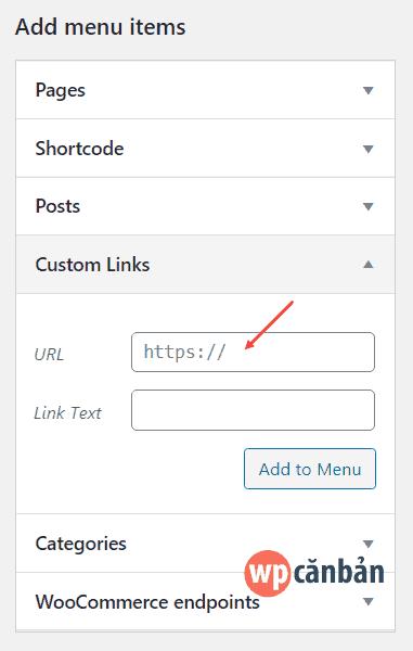 chen-shortcode-vao-custom-links-menu-wordpress