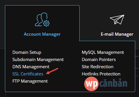 click-vao-muc-ssl-certificates-tren-directadmin