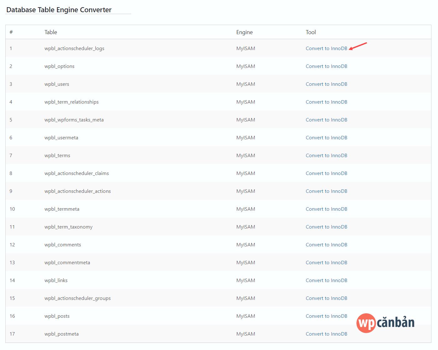 litespeed-cache-database-table-engine-converter