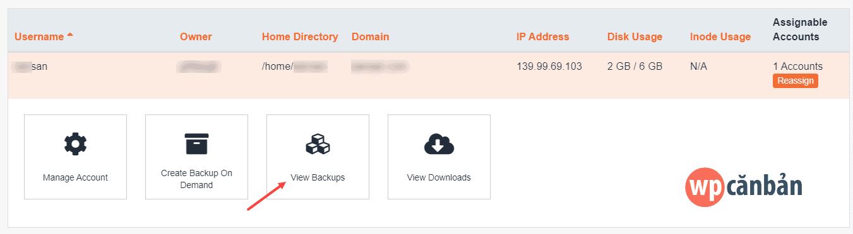 click-vao-view-backups